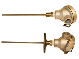 Rigid Style MgO Mineral Insulated Thermocouples & RTDs